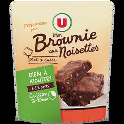 Préparation Brownies aux éclats de noisettes U, doy pack de 500g