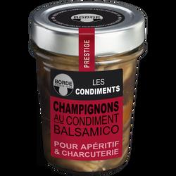 Champignons au condiment balsamico BORDE, bocal de 100g