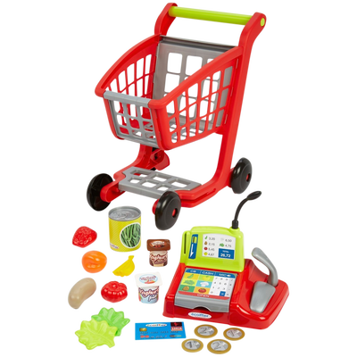 Chariot de supermarche garni