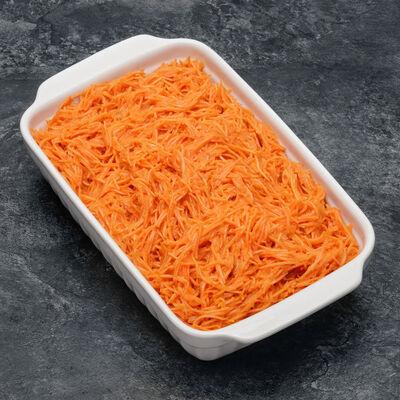 Salade assaisonnée de carottes râpées au jus de citron