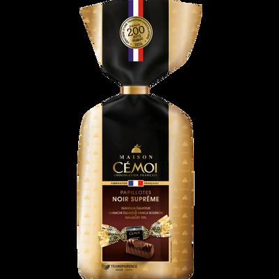 Papillotte assortiment de bonbon au chocolat noir MAISON CEMOI, sachetde 370g