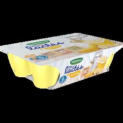 Mini lactés banane BLEDINA, de 6 à 36 mois, 6 pots de 55g