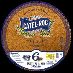 6 galettes au blé noir Fraiches, CATEL ROC, 380g