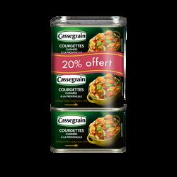 Courgettes cuisinées à la provençale Cassegrain boîte 3x1/2 dont 20% offert 1,125kg