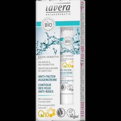 Contour des yeux anti rides basis sensitiv à la coenzyme Q10 bio LAVERA, tube de 15ml