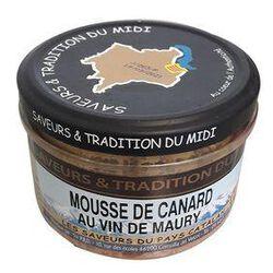 Mousse de Canard aux Vin de Maury, Bocal de 190g, SAVEURS & TRADITION DU MIDI