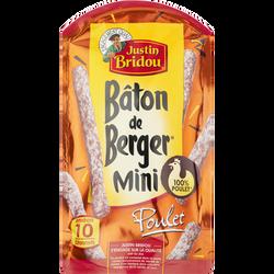 Mini Bâton de Berger au poulet JUSTIN BRIDOU, 100g
