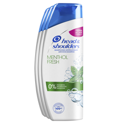 Shampoing au menthol HEAD & SHOULDERS, 3x280ml