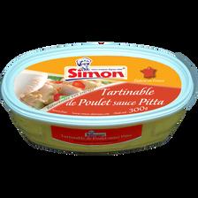 Tartinable de poulet sauce pitta SIMON DUTRIAUX, 300g