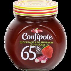 Confipote fraise et rhubarbe MATERNE, pot de 350g