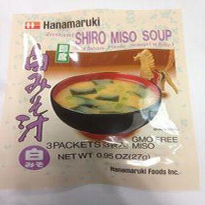 Soupe miso blanc instannée Hanamaruki, 27g