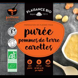 Préparations flocons purée pommes de terre carottes PLAISANCE BIO, 90g