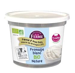 Fromage frais BIO au lait frais de vaches, nature, FERME D'ANA-SOIZ, pot de  500g