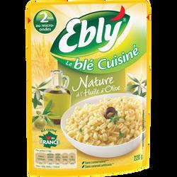 Blé Express 2mn nature à l'huile d'olive EBLY, 220g