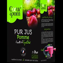 jus de pomme naturel COEUR DE POM', fontaine de 3l