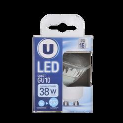 Led U, spot, 35w, gu10, verre, lumière froide