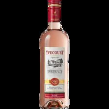 """Vin rosé AOP Bordeaux """"Cellier Yvecourt"""", 75cl"""