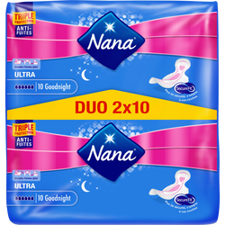 Serviettes ultra goodnight dryfast NANA, jumbo pack de 20