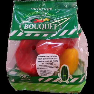 Mini poivron doux bicolore, catégorie 1, Espagne, sachet 200g