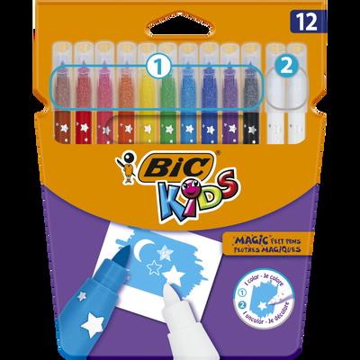 Feutres de coloriage Kids Magic BIC, 12 unités, coloris assortis