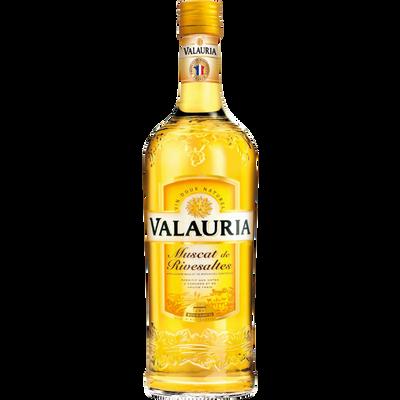 Vin blanc Muscat de Rivesaltes VALAURIA, 15,5°, bouteille de 75cl