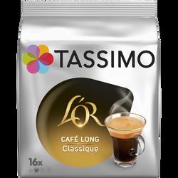 Café long classique l'Or TASSIMO, 16 dosettes soit 104g