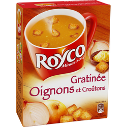 Soupe grâtinée aux oignons et croûtons ROYCO, 4 sachets 80cl
