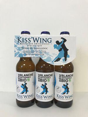 Kiss'Wing Bière Blanche Artisanale Bio 3 x 33cl