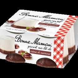 Yaourt sur lit de crème de marron BONNE MAMAN, 4x125g