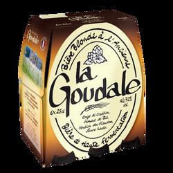 Bière blonde à l'ancienne LA GOUDALE 7,2°, 6x25cl