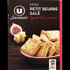 LU Mini Petit Beurre Parmesan Figue Saveurs U, Paquet De 65g