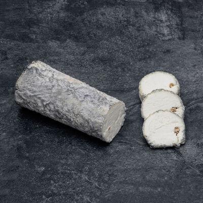 Sainte Maure au lait cru de chèvre LE CHEVREPAILLE CENDRE, 18% de MG,300g