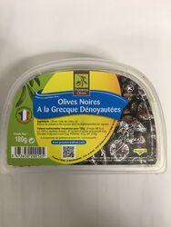 Provence Olives - Olives noires à la Grecque Dénoyautées - 180G