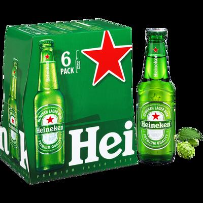 Bière blonde HEINEKEN, 5° 6x25cl