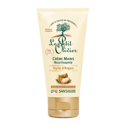 Crème nourrissante pour les mains à l'huile d'argan pour les peaux sèches à très sèches LE PETIT OLIVIER, tube de 75ml