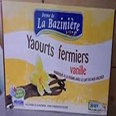 Yaourts fermiers   LA BAZINIERE    Vanille