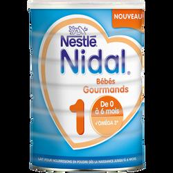Nidal croissance 1 poudre gourmands de 0 à 6mois NESTLE, 800g