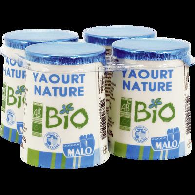 Yaourt Nature Bio Malo 4x125g Super U Hyper U U Express