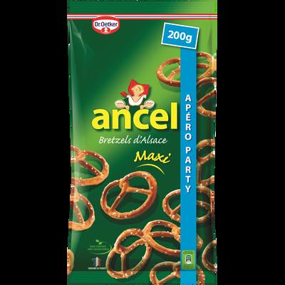 Biscuits apéritif bretzels d'Alsace maxi DR OETKER, sachet de 200g