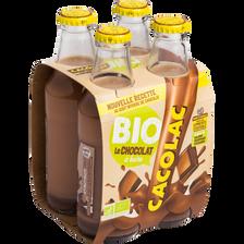 Boisson chocolatée BIO CACOLAC, 4 bouteilles de 20cl