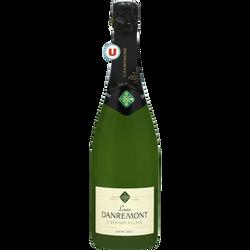 Champagne demi-sec Louis Danremont U, bouteille de 75cl