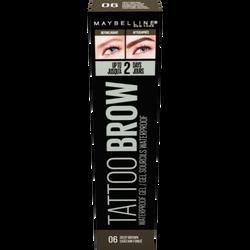 Tattoo studio brow waterproof gel 06 deep brown MAYBELLINE, nu