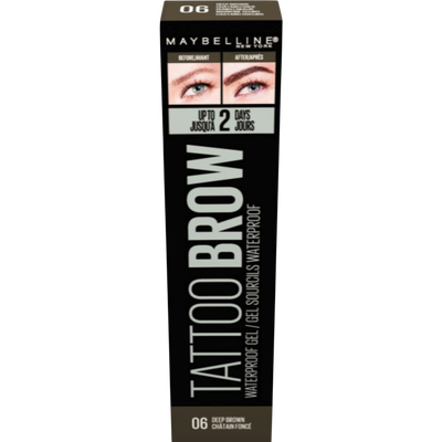 Tattoo studio brow waterproof gel 06 deep brown MAYBELLINE, nu