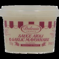 Sauce aïoli DELOUIS, pot de 110g