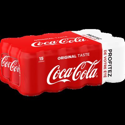 COCA COLA profitez de votre été boîte 15x33cl