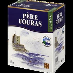 Vin blanc IGP de pays charentais Père Fouras, fontaine à vin de 5l