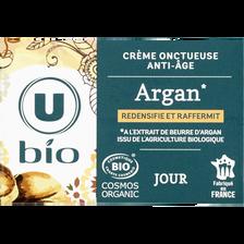 Crème onctueuse anti-âge à l'argan U BIO, pot de 50ml