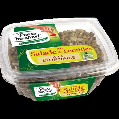 Salade de lentilles à la lyonnaise aux oignons émincés PIERRE MARTINET, 300g