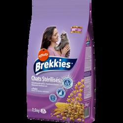 Croquettes pour chats stérilisés BREKKIES Excel, 1,5kg