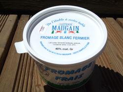 Fromage Blanc fermier Battu - 40 % Mg - MAUGAIN